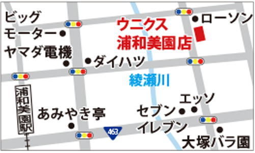 ウニクス浦和美園店の地図