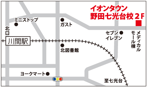 イオンタウン野田七光台校の地図