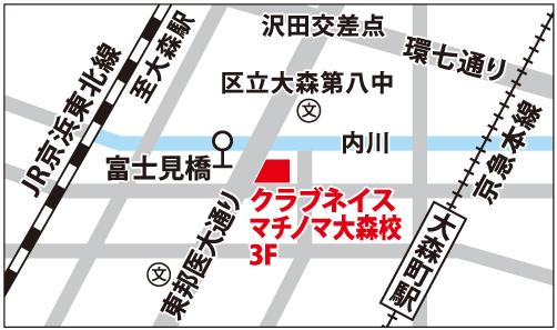マチノマ大森校の地図