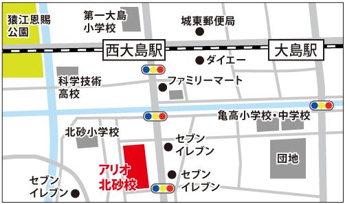 アリオ北砂校の地図