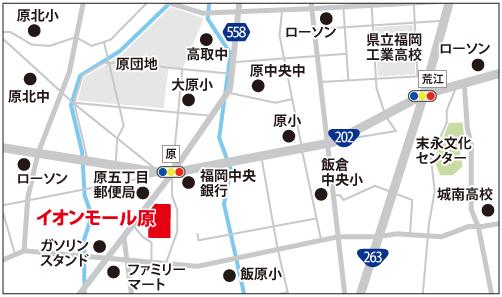イオン原校の地図