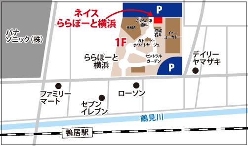 ららぽーと横浜校 10月18日体験レッスン開始の地図